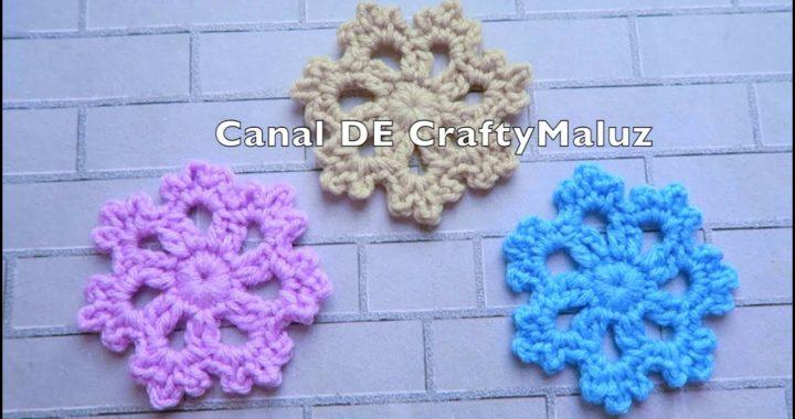 CROCHET TUTORIAL❄️ Copo de Nieve a Crochet muy fácil Adornos de Navidad❄️ Aplicación de crochet