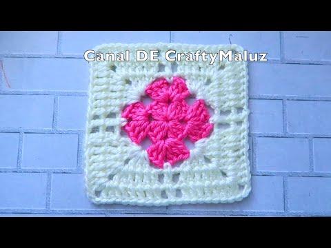 CROCHET TUTORIAL Granny Square paso a paso 👍cuadro a crochet motivo a crochet