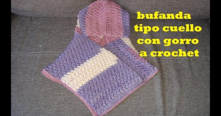 CUELLO con GORRO a crochet - facil - tejido a ganchillo - para hombre y mujer