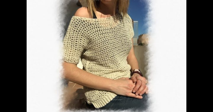 Camiseta verano crochet