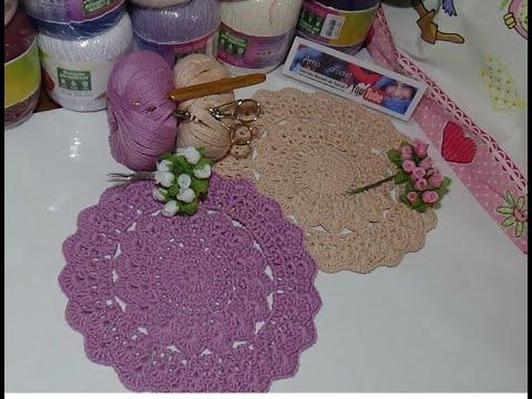 Carpeta redonda en crochet paso a paso #Fácil