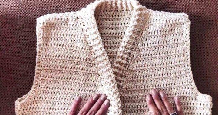 Chaleco Básico a Crochet