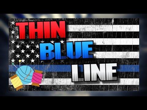 Chill & Crochet    Thin Blue Line  flag blanket c2c