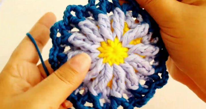 Circulo a crochet comienzo de crop top