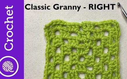 Classic Granny Square - Beginner Crochet Lesson 6 - Right Handed (CC)