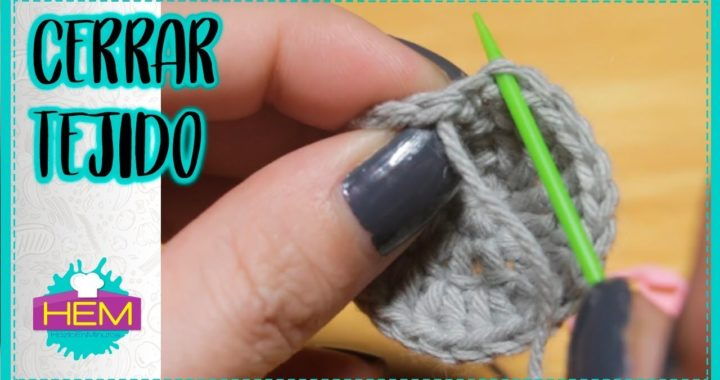 Cómo CERRAR un TEJIDO CIRCULAR a CROCHET (Ganchillo) 🔹️ Crochet para PRINCIPIANTES #023