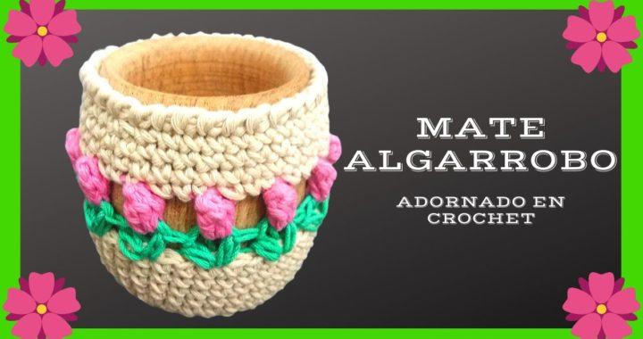Como decorar un MATE con #crochet o ganchillo - Tutorial paso a paso - Moda a Crochet