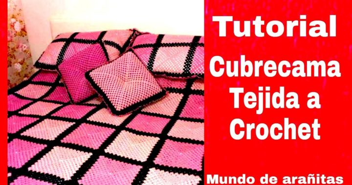 Como hacer Cubrecama tejida a crochet fácil 🎄🎁
