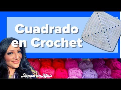 Cómo hacer un Granny Square Sencillo | Figuras geométricas en tejido | Aprendo con Marta