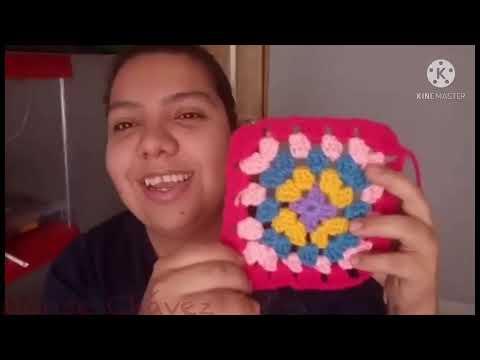 Como tejer GRANNY SQUARE básico a crochet tutorial paso a paso