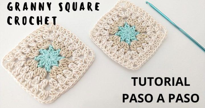 Cómo tejer Granny square crochet super fácil paso a paso