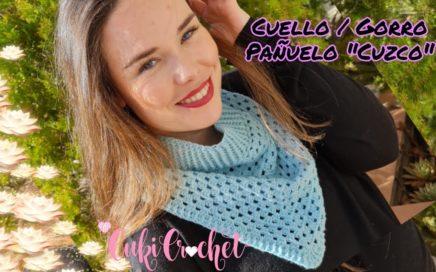 """Cómo tejer """"CUZCO"""" Cuello Granny a crochet. Pañuelo / Gorro."""