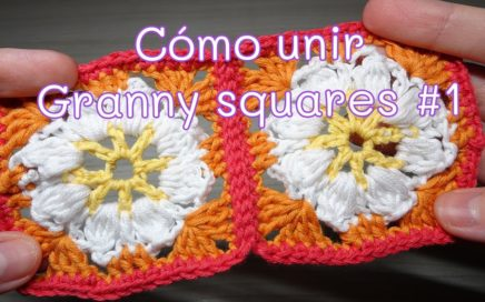 Cómo unir un Granny square con punto deslizado | muy fácil