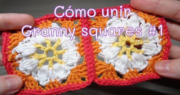 Cómo unir un Granny square con punto deslizado   muy fácil
