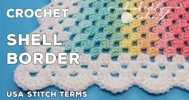 Crochet Border for Granny Blankets | Shell Scalloped Edge (Easy!)
