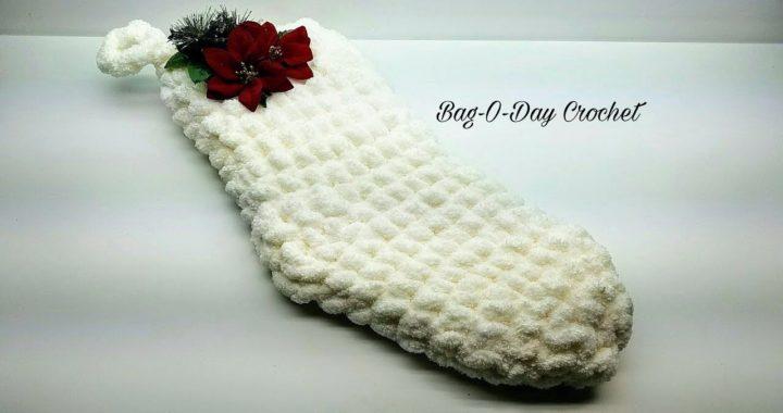 Crochet Christmas Stocking | Easy Quick Jumbo Stocking | Bag O Day Crochet Tutorial 750