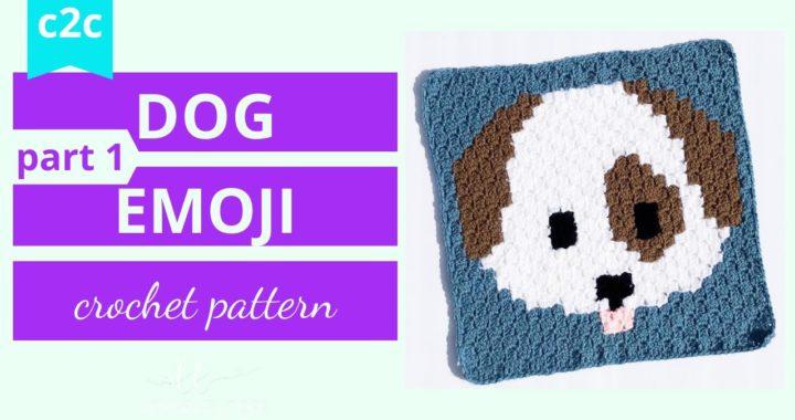 Crochet Corner to Corner (c2c) Dog Emoji Graph Tutorial (part 1)