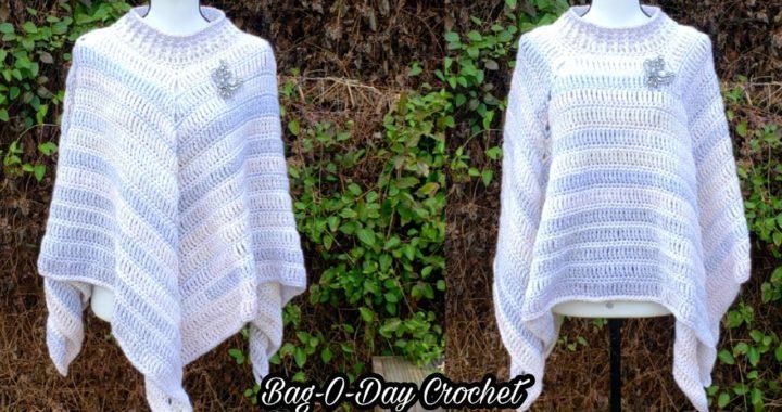 Crochet Easy Poncho | Easy Crochet Poncho | Bag O Day Crochet Tutorial 549