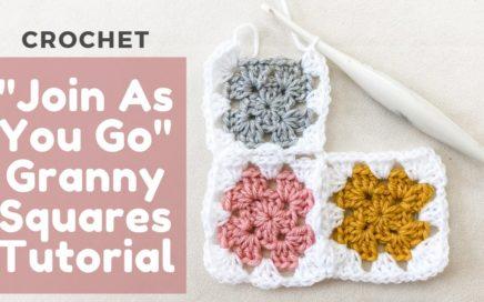 Crochet Granny Square Join As You Go (JAYG) Method Tutorial [BEGINNER FRIENDLY AND SO EASY!]
