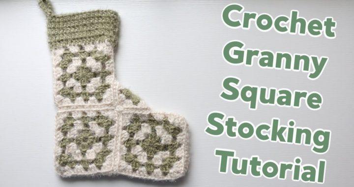 Crochet Granny Square Stocking Tutorial
