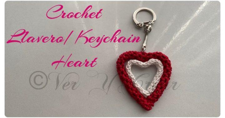 Crochet Llavero/Keychain Corazon/Heart #San Valentin #Valentine