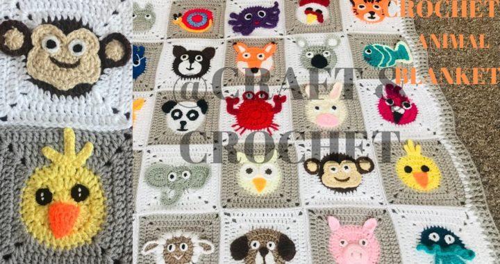 Crochet Monkey/Crochet Duck/Crochet Blanket Pattern/ Crochet animal blanket/Part:21