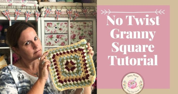 Crochet No Twist Wonky Granny Square (Easy) Tutorial by Loopy Mabel