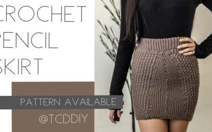 Crochet Pencil Skirt | Pattern & Tutorial DIY