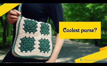 Crochet Purse Patterns (2018) Crochet granny Square Messenger bag