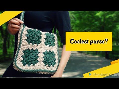Crochet Purse Patterns (2018) Crochet granny Square Messenger bag
