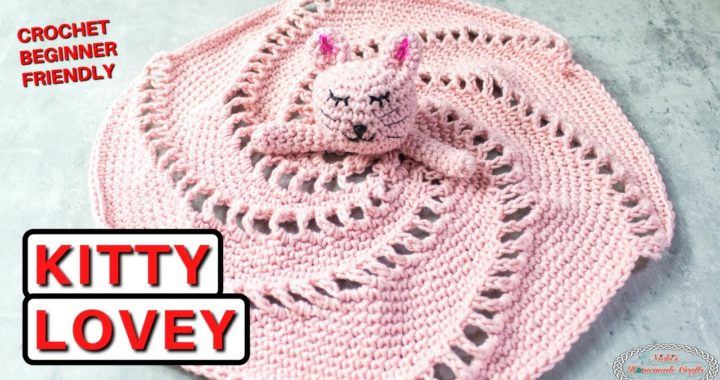 Crochet SPIRAL Kitty LOVEY Blanket Tutorial