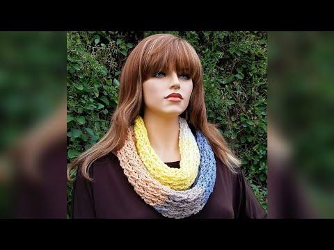 Crochet Scarf | Easy Crochet Infinity Scarf | Bag O Day Crochet Tutorial