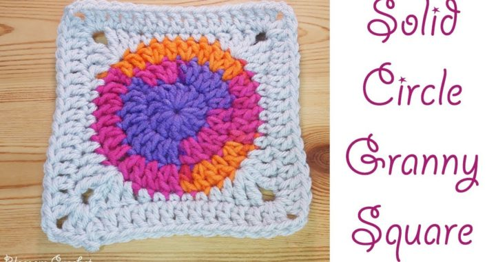 Crochet: Solid Circle Granny Square