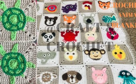 Crochet Turtle/ Crochet animal blanket/crochet baby blanket/Part:18
