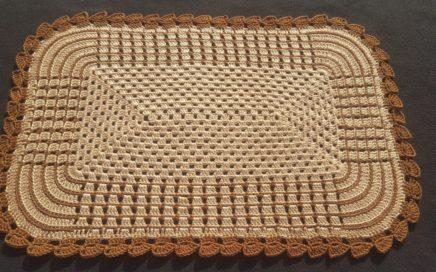 Crochet easy Rectangular Rug    simple Table Runner
