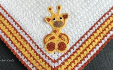 Crochet giraffe /crochet blanket appliqué/craft & crochet applique