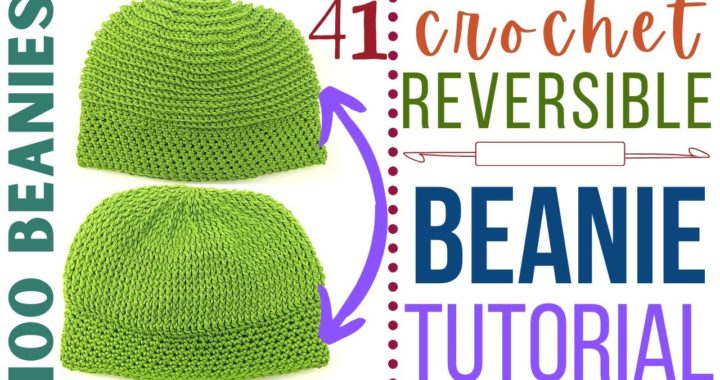DIY Crochet Beanie - Day 41 - Crochet Male Beanie - Reversible Beanie Pattern
