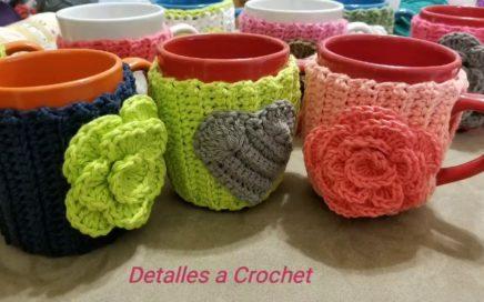 🌹Detalles a Crochet  Forro Para Tazas Decoradas❤