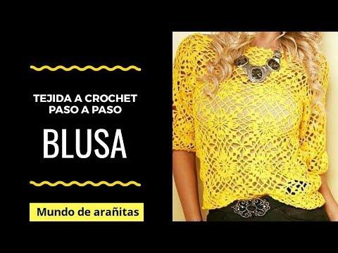 DiY Tutorial ❤️BLUSA❤️de mujer para VERANO tejida a crochet
