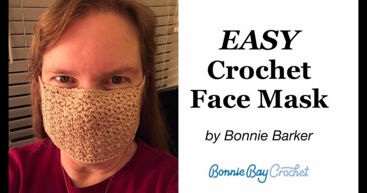 EASY DIY Crochet Face Mask with Filter, by Bonnie Barker