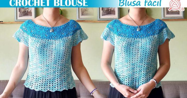 [ENG SUB] Easy Motif Blouse - Crochet Blouse - Blusa de motivos muy fácil - Granny Square