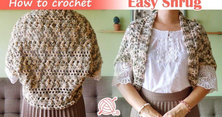[ENG Sub] Easy Shrug - Cardigan a crochet Fácil Rectangular - Braided Stitch Cardigan