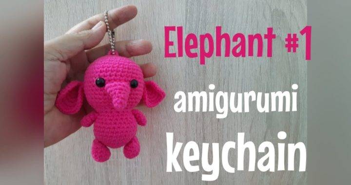 EP.91 สอนถักตุ๊กตาช้างโครเชต์ #1/How to crochet elephant amigurumi #1./Free pattern./Elephant