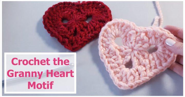 Easy Crochet Granny Heart  // SS#131