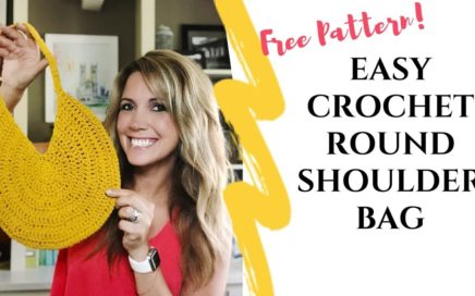 Easy Crochet Round Shoulder Bag