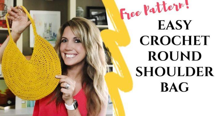 Easy Crochet Round Shoulder Bag