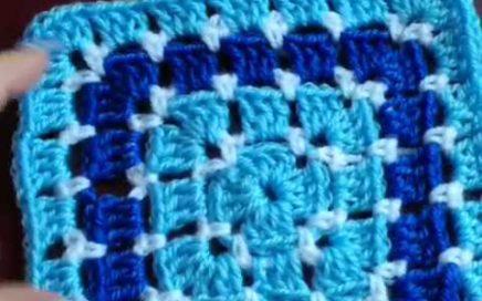 Easy modern granny square crochet tutorial