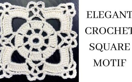 Elegant Crochet Square Motif