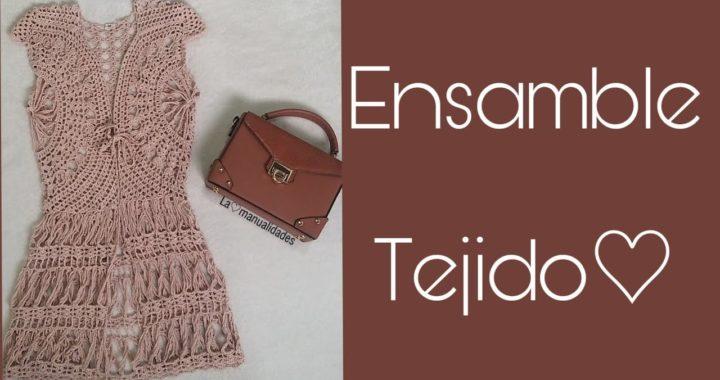 Ensamble tejido a crochet (Parte 1 de 2) Chaleco tejido
