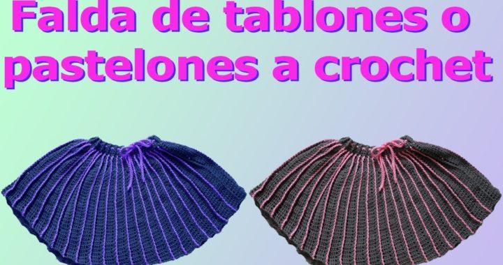 Falda para niñas y mujeres a crochet muy facil de tejer parte #2 / crochet skirt for girl